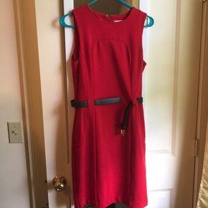 Red Michael Kors Sleeveless Dress Size 4